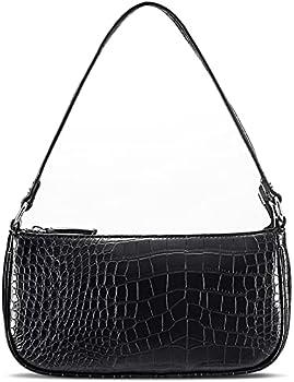 Retro Classic Women's Vegan Leather Shoulder Bag (Black)