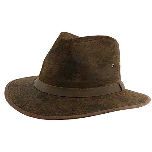 Aussie Apparel Chapeau Cuir Marron Flinder Mixte