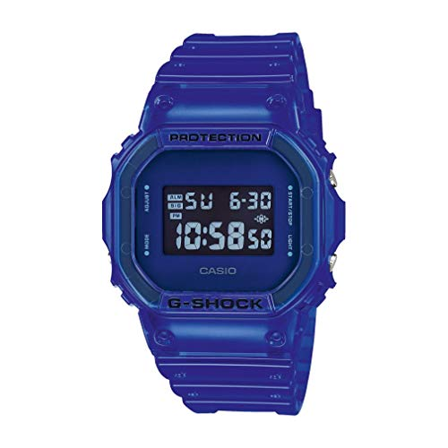 Casio G-Shock Orologio Digitale Uomo Special Edition Dw-5600sb-2er Blue Color Skeleton