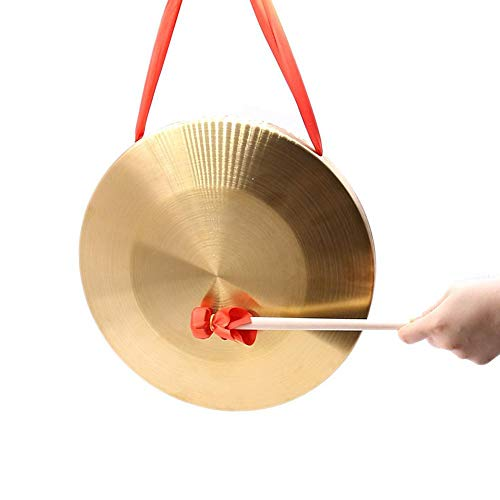 greatdaily Feng Gong Tam Tam Gong, Hand-Gong Becken Aus Messing Und Kupfer, Percussion Set Mit Hammer, Percussion Instrumente Kinder - 10/15.5cm