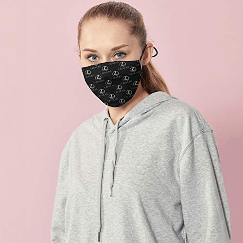 TIINTEXBA Breahable Brand Logo Face Cover Adjustable Cloth Men Women Dust Face Covers for Outdoor