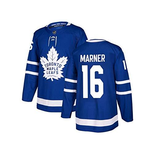 WANGP Herren Eishockey Trikots Toronto Maple Leafs 44 Rielly 88 Nylander Genähte Buchstaben Zahlen Langarm T-Shirt Atmungsaktive Sweatshirts,D16-X-Large