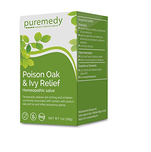 Puremedy Poison Oak & Ivy Relief Treatment - Homeopathic Salve Remedy for Temporary Relief of Skin Itching and Irritation (1oz)