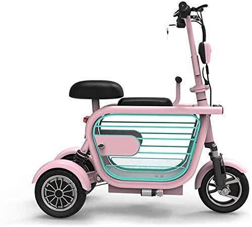 GAXQFEI Mobility Scooter Eléctrico 3 Ruedas de Scooter Eléctrico Plegable, Bicicleta Eléctrica-34Km / H, Fácil Diseño de Pliegue Y Transporte, Adulto Ultraligero,15A65Km