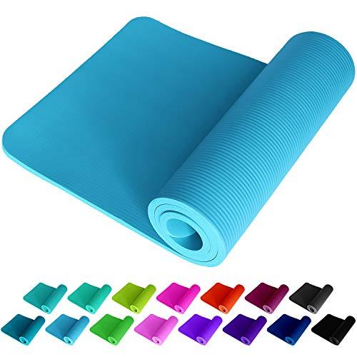 ReFit Fitnessmatte Yogamatte Aqua Hellblau Babyblau Himmelblau Lightblue Skyblue 1.5 cm rutschfest gelenkschonend geruchsneutral EXTRA dick weich groß 183 x 61 x 1.5 Trageband Fitness Sport Yoga Matte
