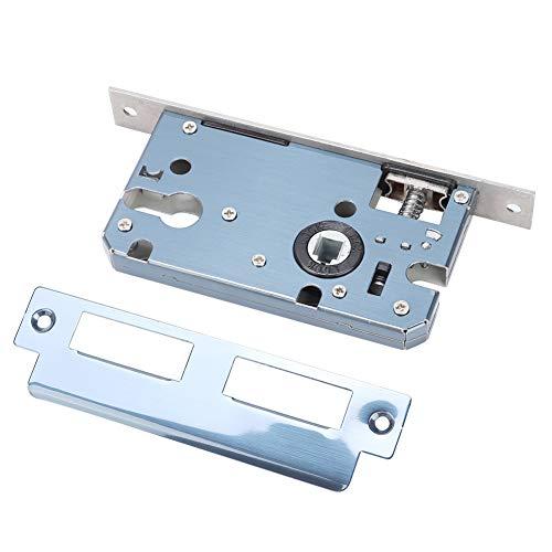 Weikeya Cerradura para puerta, elegante níquel satinado 18,6 x 4,5 cm, diseño de perilla de aluminio