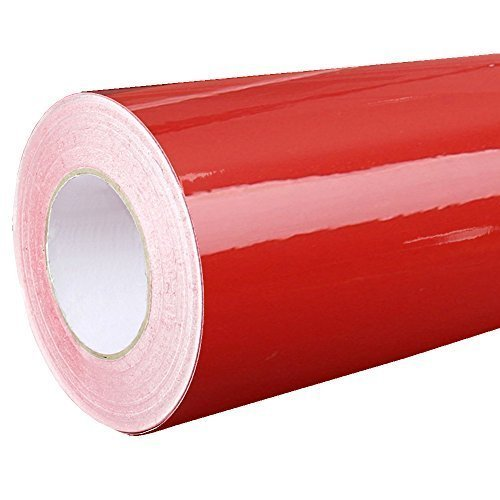 Rapid Teck® 4,75€/m² Glanz Folie - 030 Dunkel Rot - Klebefolie - 5m x 63cm - Folie selbstklebend - Plotterfolie - auch als Moebelfolie