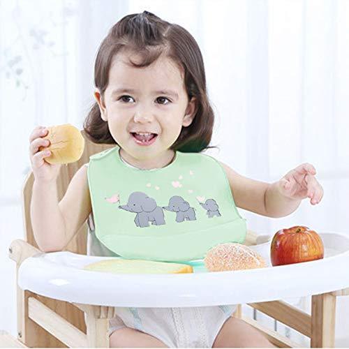 2 uds, Baberos para bebés, babero de silicona impermeable, baberos de silicona para bebés y niñas, cuenco, babero de silicona, babero de alimentación para bebés, baberos impermeables