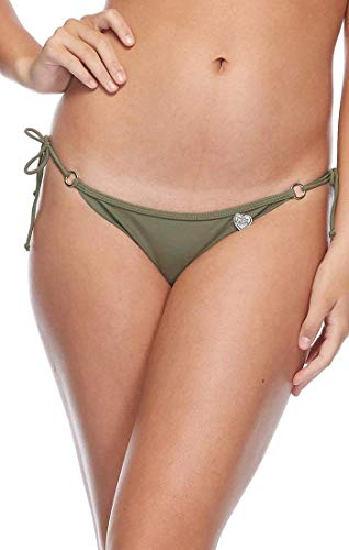 Body Glove Women's Standard Brasilia Tie Side Cheeky Bikini Bottom Swimsuit, Smoothies Cactus, Medium