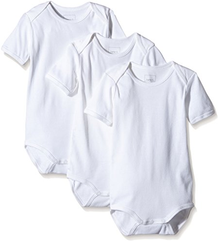 NAME IT NAME IT Baby-Jungen NITBODY SS M NOOS Body, Weiß (Bright White), 80 (3er Pack)