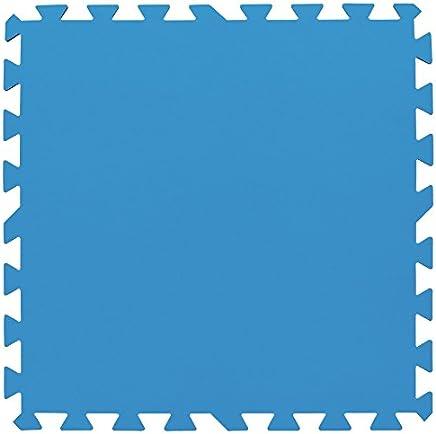 Bestway 58220 Protezione per il Fondo della Piscina, Blu, Confezione da 8 pezzi di 50 x 50 cm