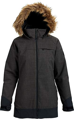 Burton Womens Lelah Jacket, Heather Black/True Black, Large