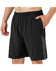 Butrends Hardloopshorts Heren met Rits Zakken Workout Gym Training Sportshorts Ademend Sneldrogend Fitness-joggingbroek