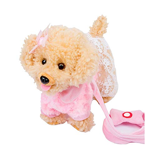 SZSCUTE Realistic Teddy Dog Lucky,Teddy Dog Doll Toy - Can Walk, Talk and Sing Perfect Bed Companion Toy for Little Boys, Girls, Kids Or Puppy Dog Lovers of All Ages (O)