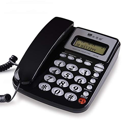 NYDZDM Teléfono con Cable y Bloqueador de Llamadas Teléfono con Cable, bocina, Pantalla, calculadora básica e identificador de Llamadas, Negro