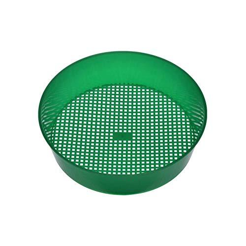 Tomy Lambert Gartensieb, 21 x 5 cm, grünes Kunststoffsieb, Bodennetz, Steinnetz, Gartenwerkzeug, Porengröße von ca. 3-3,5 mm