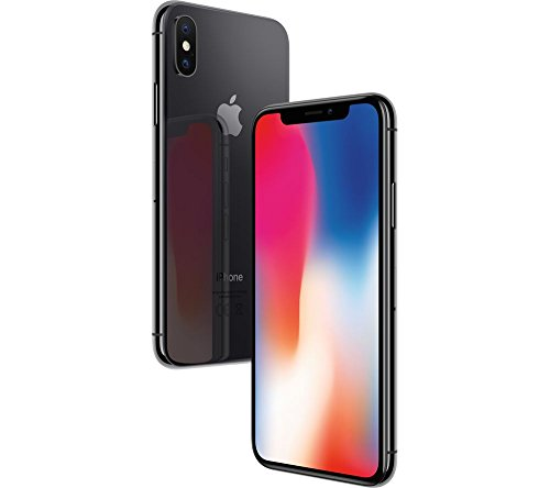 Apple iPhone X, 64GB, Space Gray – Fully unlocked- Desbloqueado(Renewed)