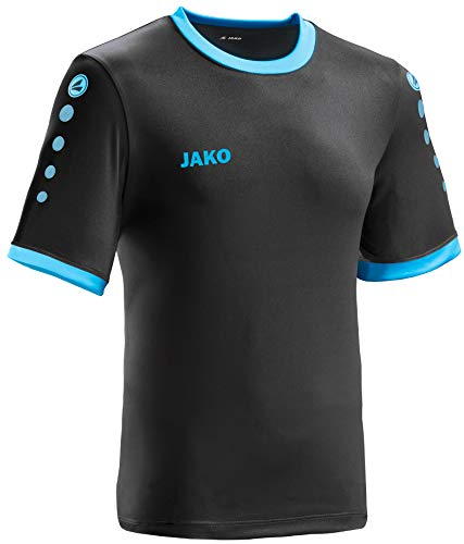 JAKO leichtes Team-Trikot schwarz-blau Unisex Größe M Casual oder Sport Shirt super Herren und Damen