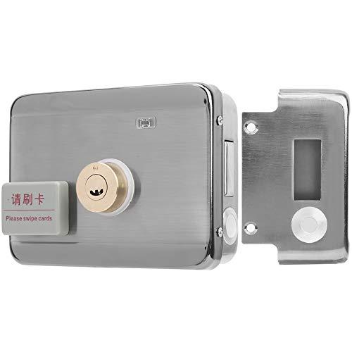 Cerradura de puerta de acero inoxidable, cerradura de control eléctrica resistente, sistema de control de acceso, para hogares, hoteles, oficinas, escuelas