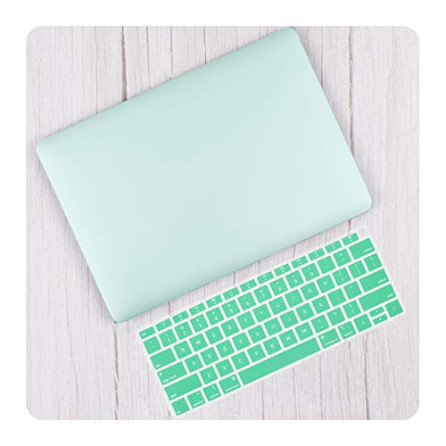 Double-sweet Matte & Crystal Hard Shell Case & Keyboard Cover For 2020 Pro 13 16 TouchBar A2289 A2338 Air 13 inch A2337 A2179-Light green-Air 13 A1466 A1369
