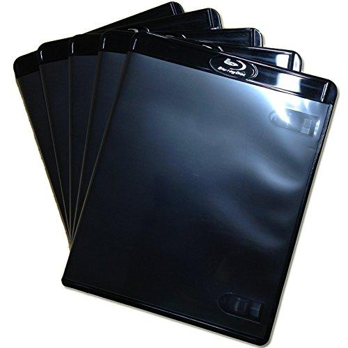 (KGシリーズ) ブルーレイケース 1枚収納 5PACK / スーパーブラック/ 【12.5mmサイズ】 【ロゴ:Blu-rayDisc】 【1枚収納】 【スーパーブラック】