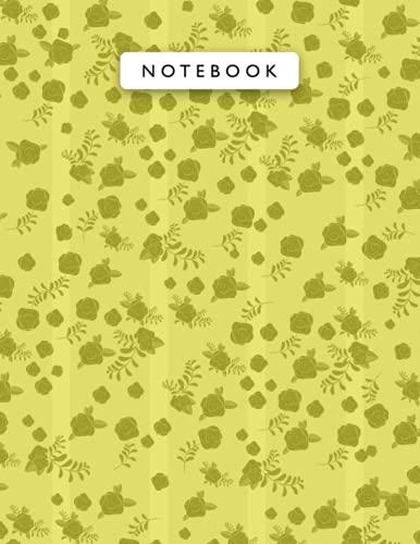 Notebook Titanium Yellow Color Mini Vintage Rose Flowers Lin
