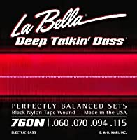 LaBella 760N La Bella Blk Tape Bass Set (並行輸入)