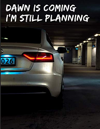 AUDI A4 White Sedan Undated Quarterly Planner for Men: Custom interior to write in with to do lists, notes,log book, calendar. Perfect gift for birthday or any occasion