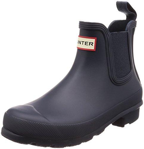 Womens Hunter Original Chelsea Winter Snow Rain Waterproof Ankle Boots - Midnight - 9