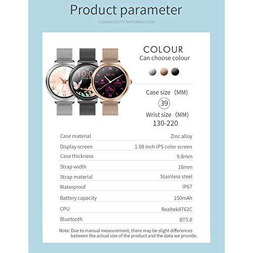 LXZ CF80 Frauen Smart Watch Full Touch Screen-Mädchen Smart Watch Herzfrequenz-Blutdruck-Monitor Weiblichen Menstruationsperiode Uhr Für Android Ios-Uhr,A