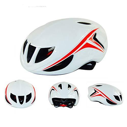 Outdoor-Mountainbike-Reithelm, einteilig, druckfest, rutschfest, Allzweckhelm – High-Density EPS-Schaum, leicht, Schwarz/Blau/Gelb/Weiß/Pink L weiß