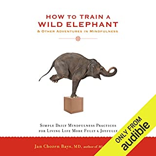 How to Train a Wild Elephant & Other Adventures in Mindfulness     Simple Daily Mindfulness Practices for Living Life More Fully & Joyfully              By:                                                                                                                                 Jan Chozen Bays MD                               Narrated by:                                                                                                                                 Jan Chozen Bays MD                      Length: 6 hrs and 6 mins     72 ratings     Overall 4.4