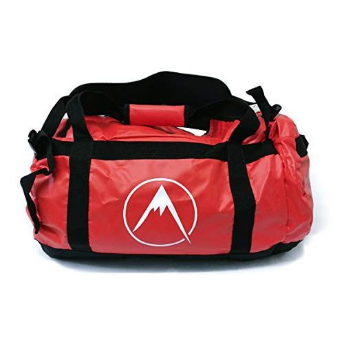 Psychi Outdoor Luggage Duffel Bag Backpack Holdall For Gym Sport Travel (Red, 40L)