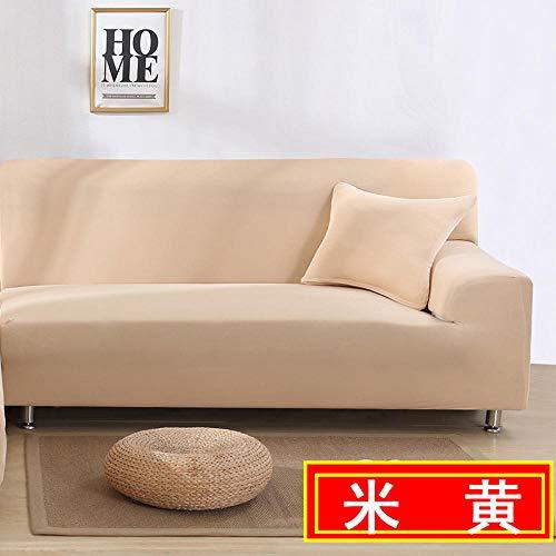 HXTSWGS Sofa Cover Protección de Muebles,Funda para sofá de Sala de Estar, Funda para sofá elástica, Funda para sofá para Silla y Taburete, Funda para Muebles-Beige_190-230cm