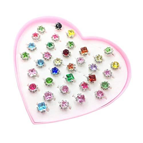 Wei/ß BINGMAX Lot de 20 anneaux de dentition pour b/éb/é en silicone avec perles pour enfants