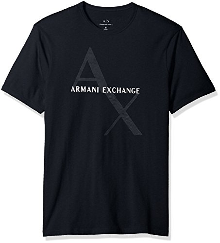 Armani Exchange Herren 8NZT76 T-Shirt, Blau (Navy 1510), Large