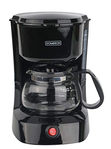 Lowest Price! Dominion D7009CM Compact Coffee Pot Brewer Machine, Black