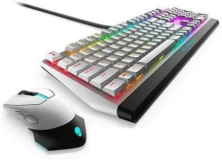 New Mechanical Low-Profile RGB Keyboard 510K AW510K with 610M Wired/Wireless Gaming Mouse AW610M for Aurora R11 Aurora R10 Area 51m R2 M17 R3 Plus Best Notebook Pen Light - Lunar Light