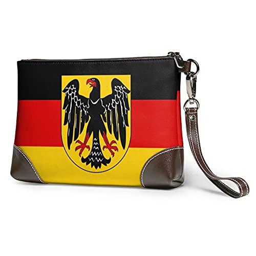 Flag Eagle Germany Leather Clutch for Women Oversized Bag Purse Wristlet Handbag