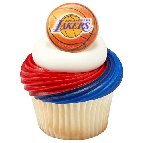 Decopac NBA Los Angeles Lakers Cupcake Rings Cake Toppers Decoration