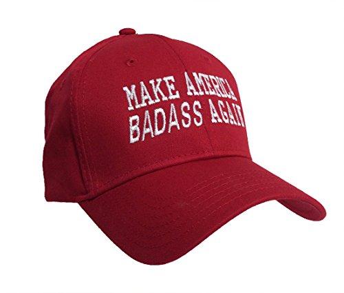 Trenz Shirt Company Make America Badass Again Adjustable Hat Red