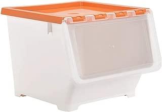 トップカバーフロントサイド透明フリップカバー収納ボックス緑のプラスチック製のおもちゃ収納ボックスとプーリーモバイル収納ボックス