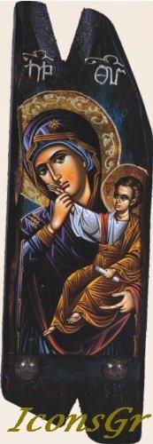 IconsGr Griechisch orthodoxen Christen aus Holz Symbol der Mutter Jesus & Jesus Christus/' N13