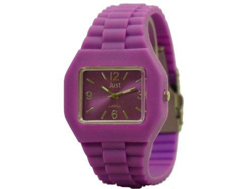 Just Watches Watches 48-S6500-PR - Reloj Unisex, Correa de Goma Color Morado