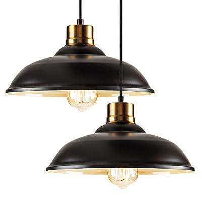 Vintage Semi Flush Mount Ceiling Light, Oil Rubbed Bronze/Antique Brass Finish,Industrial Ceiling Lamp Fixture Suitable for Bedroom Living Room Hallway,E26 Medium Base