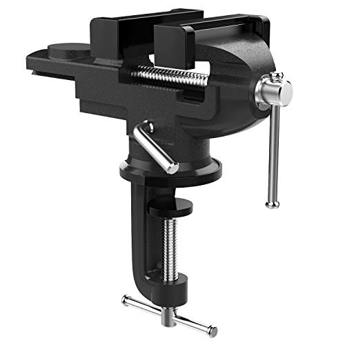 Nuovoware Table Vise 3 Inch, Universal Bench Vise with 360° Rotating...