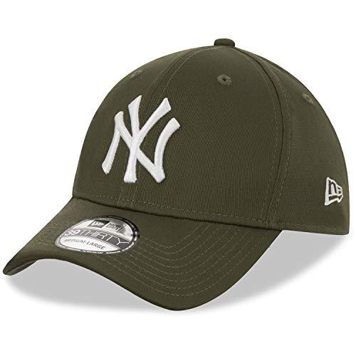 New Era League Essential 39thirty York Yankees - Gorra para Hombre, Hombre, Gorra, Hombres, 12523890, Verde Oliva, S-M