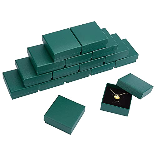 NBEADS Cajas de cartón para joyas, 16 unidades, 7,3 x 7,3 x...