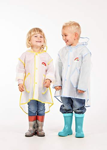 Regenfreund Regenponcho, Süße All-Wettercapes für kleine Helden (Blau, S)