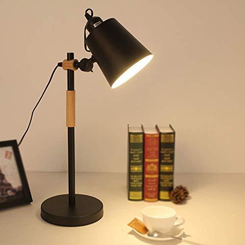 KAYBELE Reading Light for Kids, Table Lamps for Living Room Modern, Book Reading Light for Children, White, Desk Lamp Black Metal, Desk Lamp White and Wood, Office (Color : Schwarz)